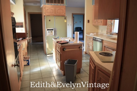The kitchen with all the original avacado appliances.......remember those?